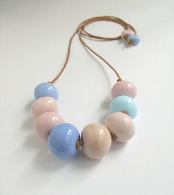 Pastel mix glass necklace