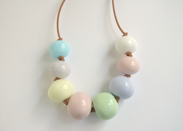 Pretty pastel mix glass bead necklace