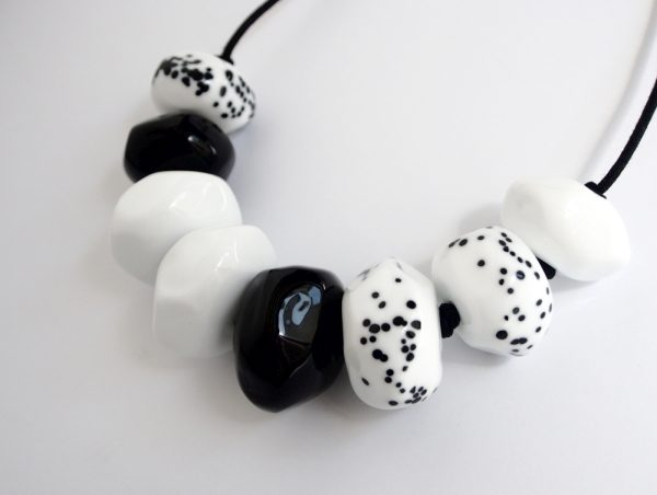 Avril Bowie - Black and White necklace